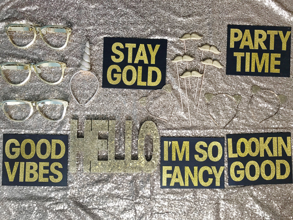 Gold Photo Booth Prop Package