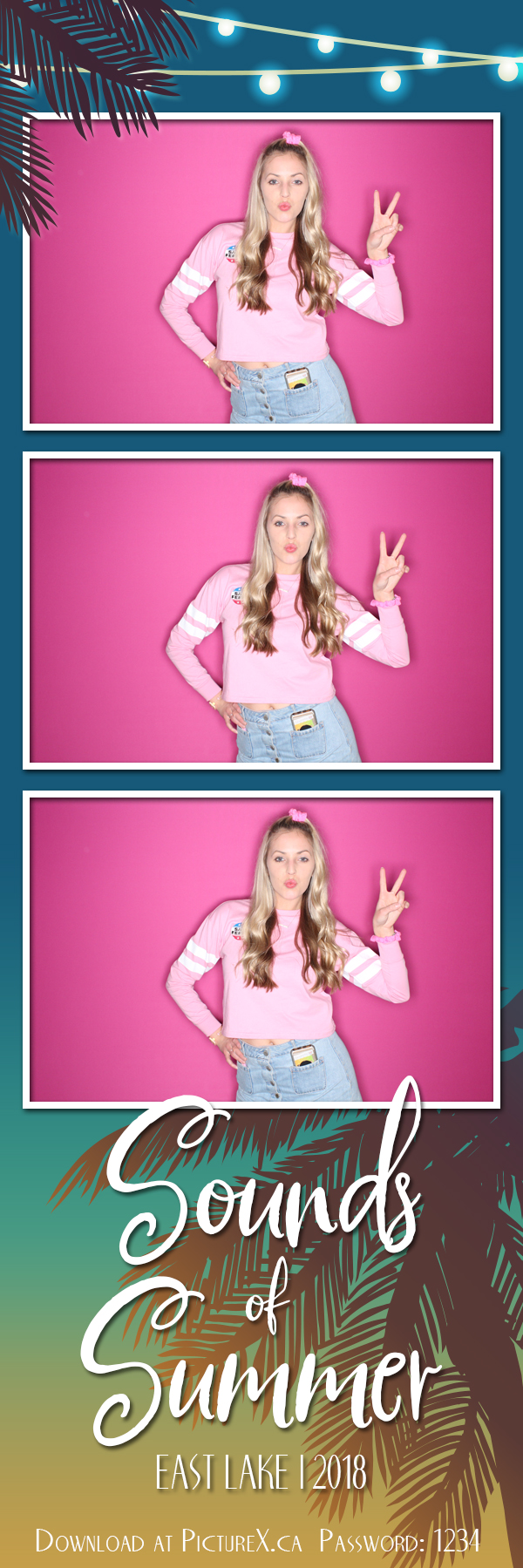 Summer-Nights photo booth template