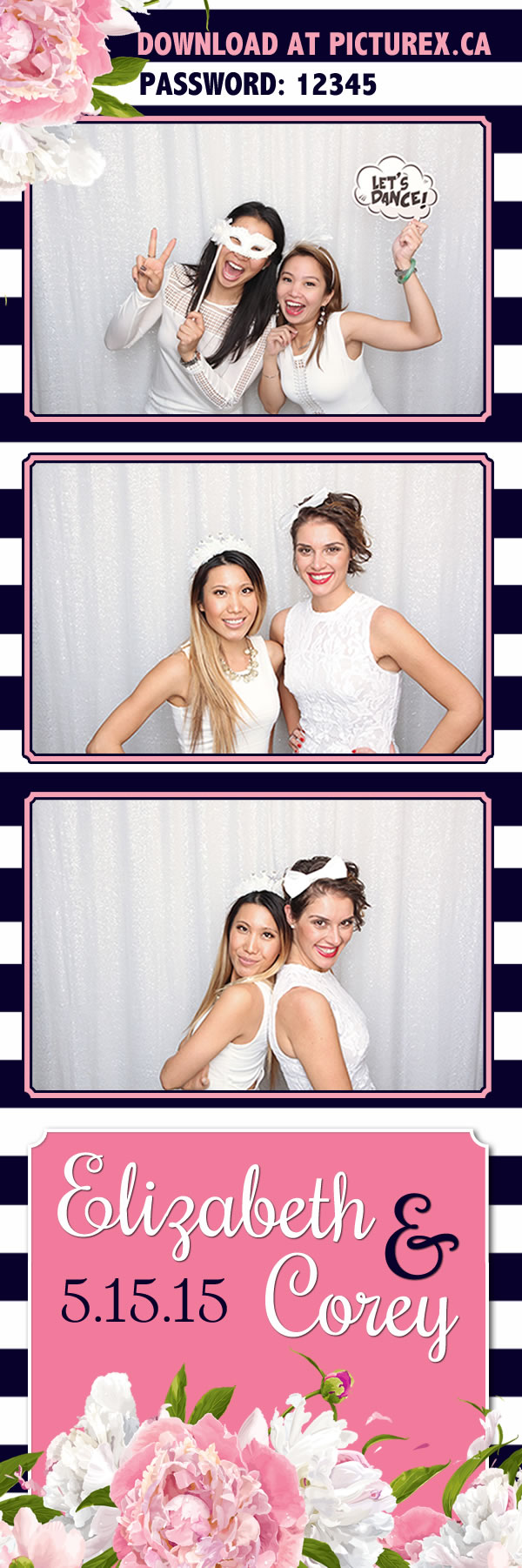 FlowerStripe_strip toronto photo booth template