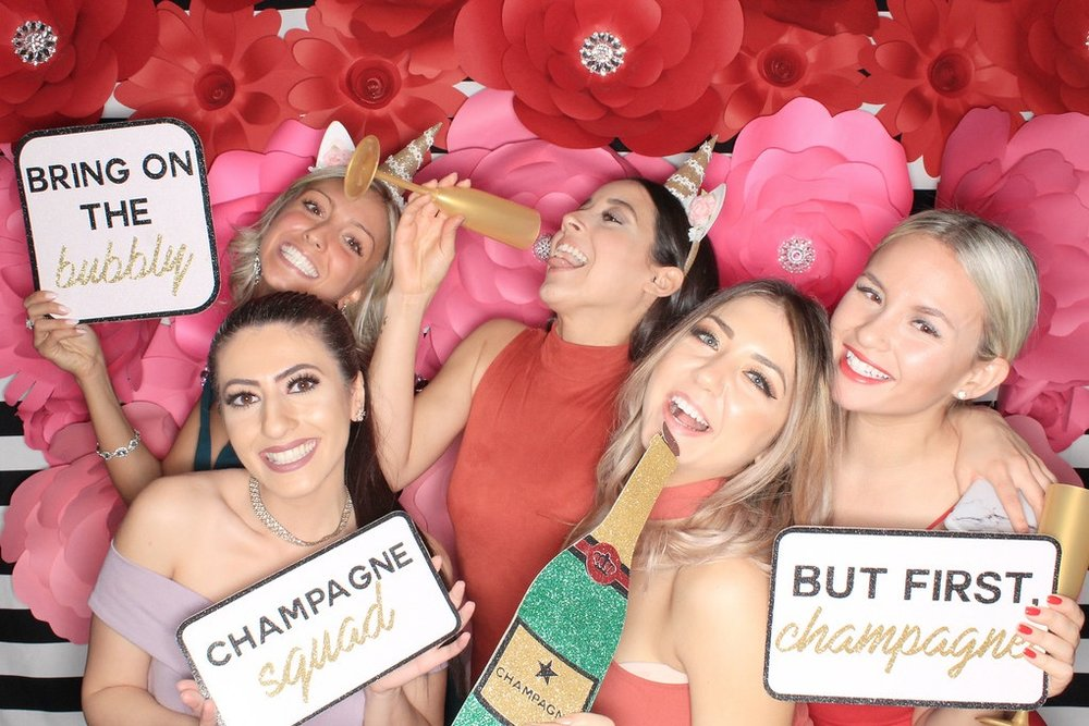 Champagne Photo Booth Props