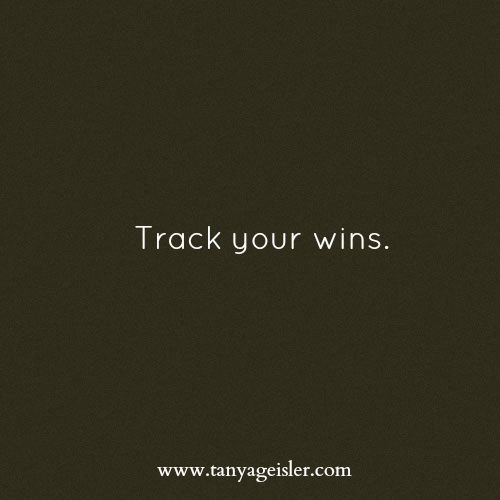 Track your wins