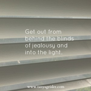 get out from behind the blinds of jealousy and into the light