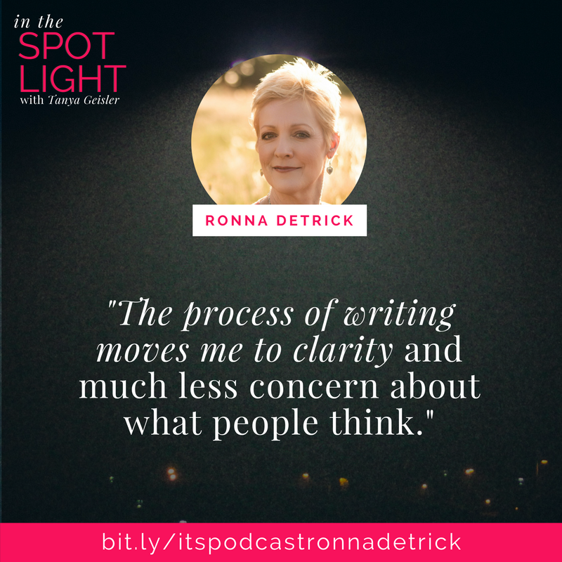 in the spotlight with ronna detrick on sacred writing