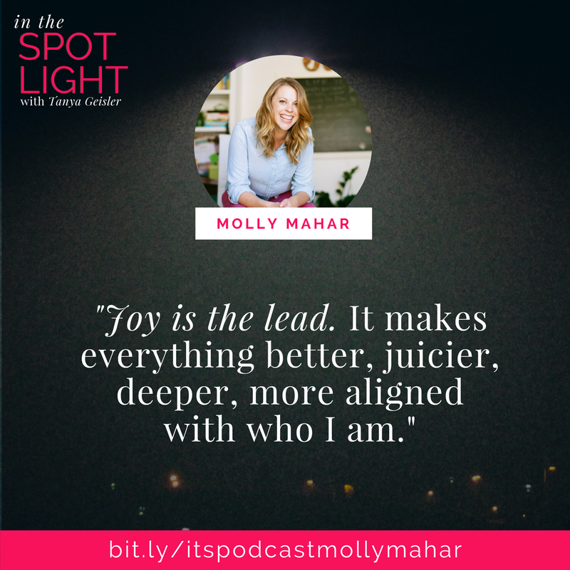 in the spotlight with molly mahar