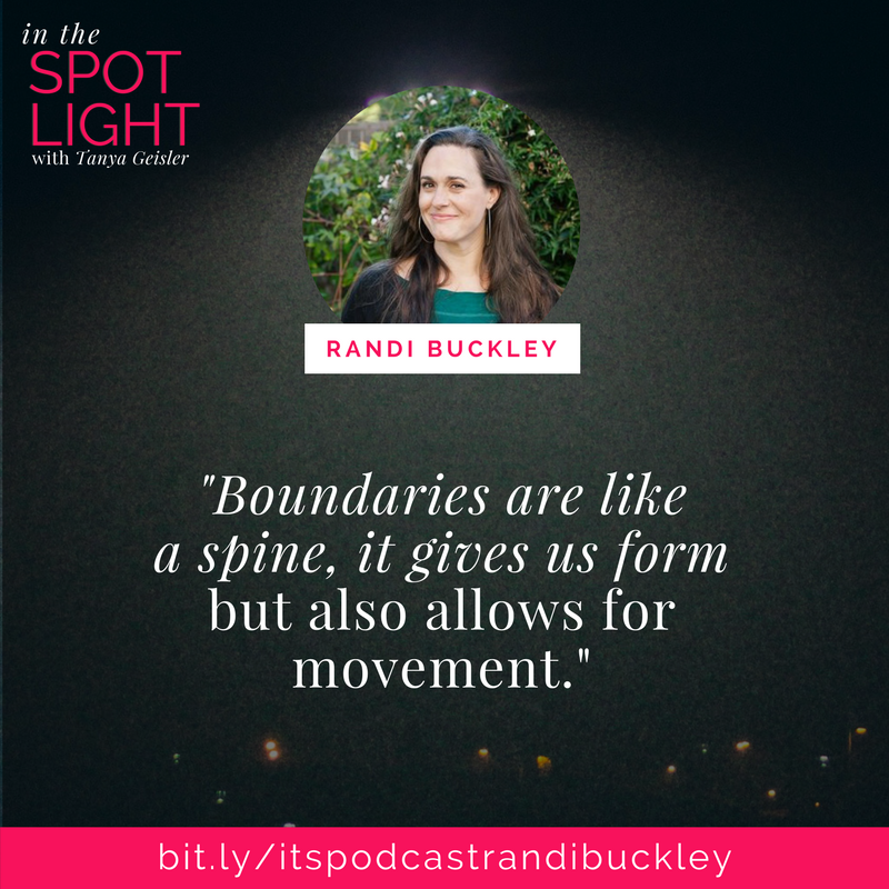 in the spotlight with randi buckley on boundaries