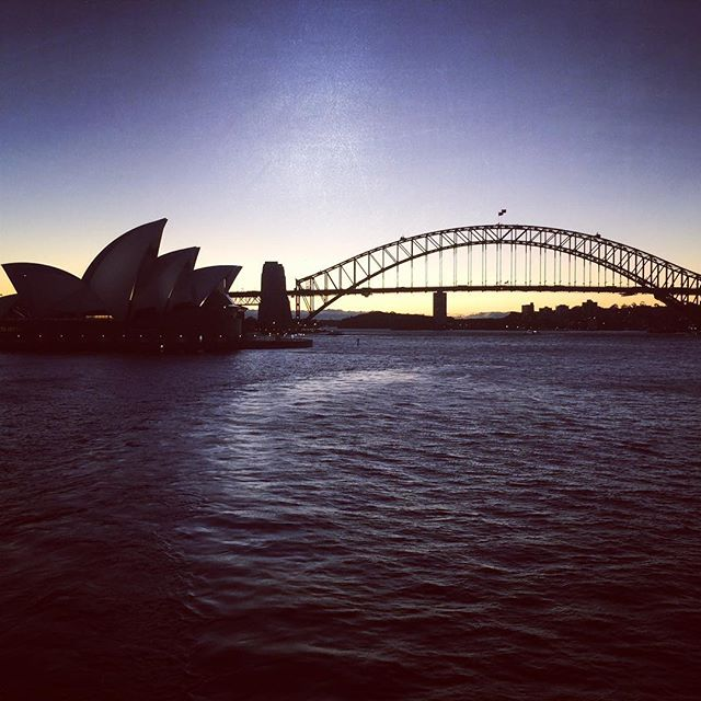 Great shot of #sydneyharbourbridge and #sydneyoperahouse from the water