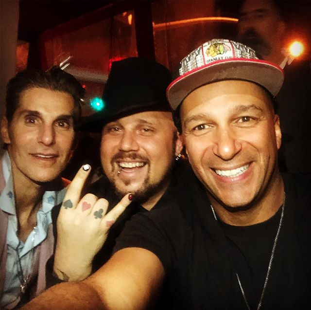 Warping minds! With @tommorello and Perry Farrell! #magician #performerlife #magic #lovemyjob