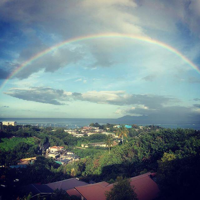 Great way to wake up! #tahiti #performerlife #magic #rainbow