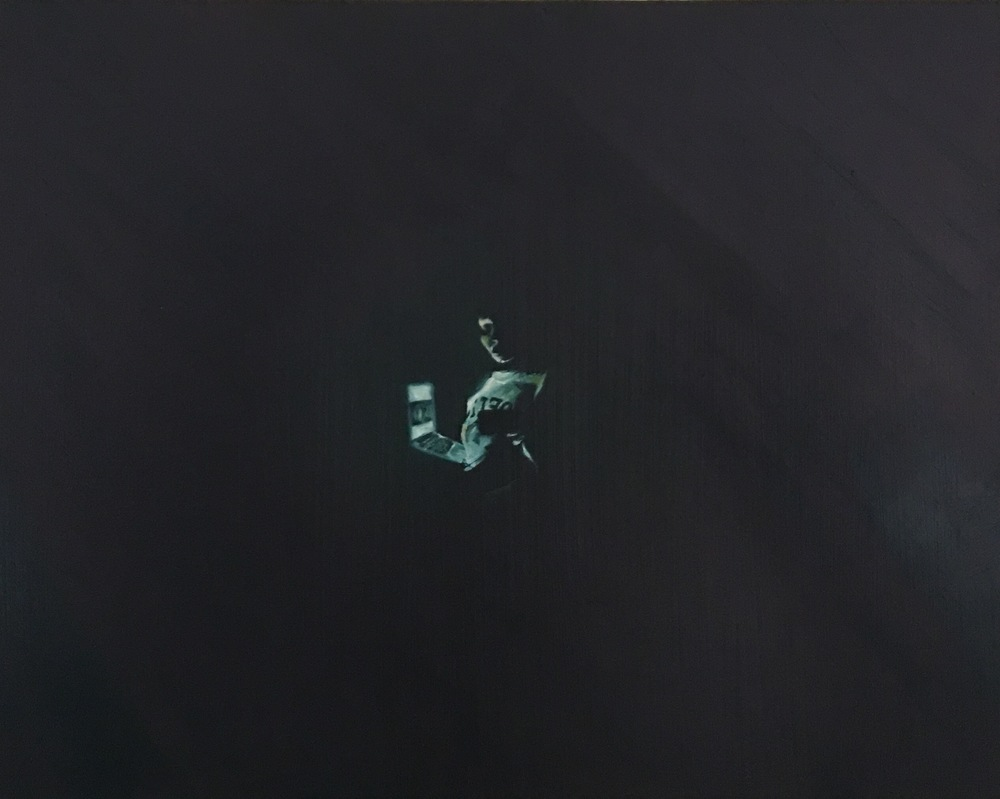 How's Your Connection?, Oil on Wood Panel, 2016