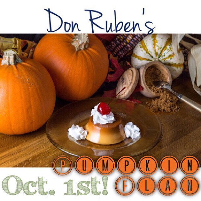 Need we say more!? 🍮🎃👻 October 1st! #drmex #flan #pumpkin who's excited?