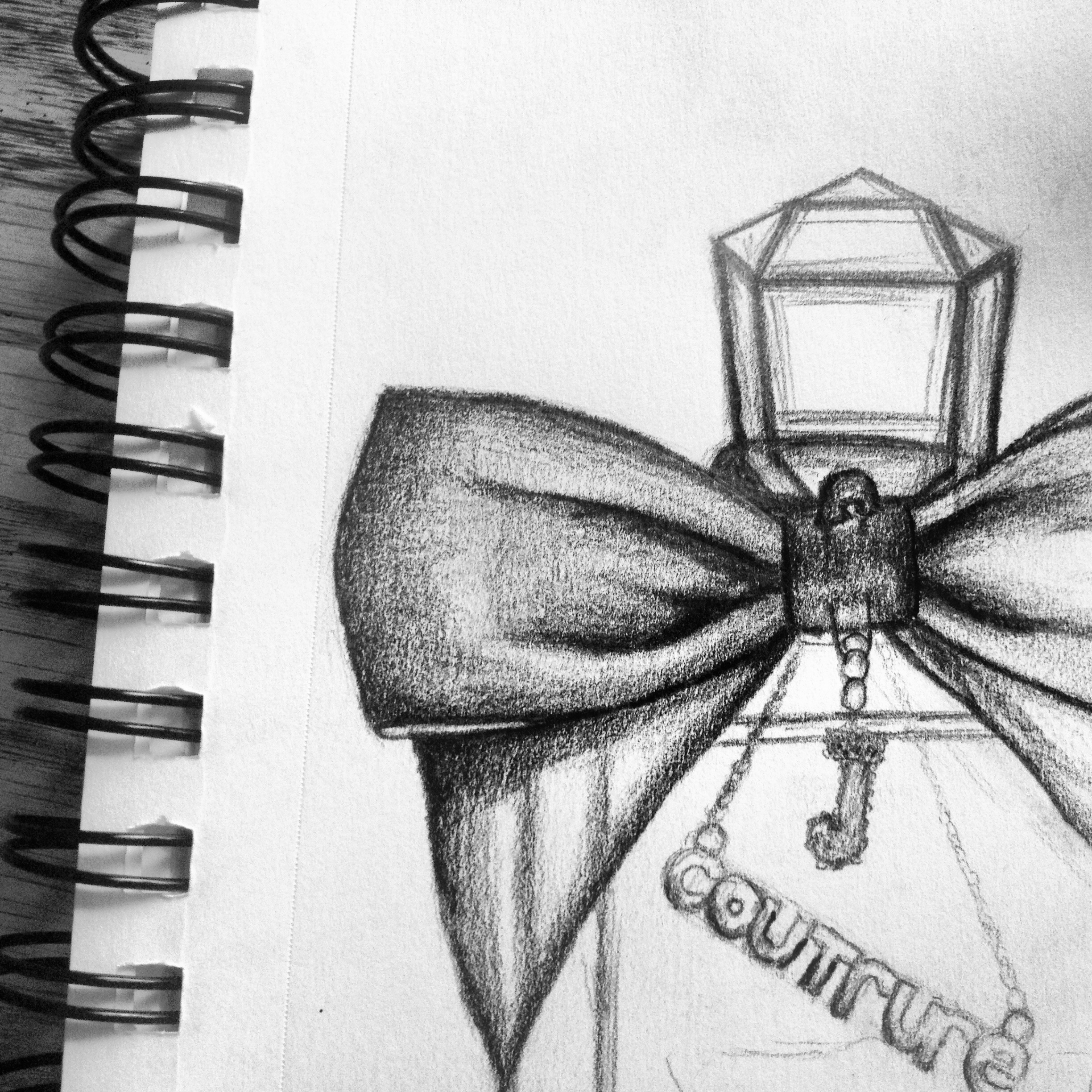 Sketching my favorite perfume. Viva la Juicy by Juicy Couture.