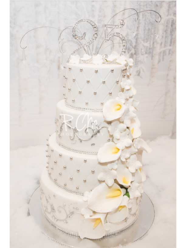Anniversary Cake Closeup - La Petite Confections.png