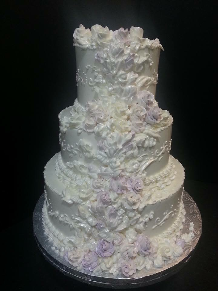 Floral Wedding Cake - La Petite Confections.JPG