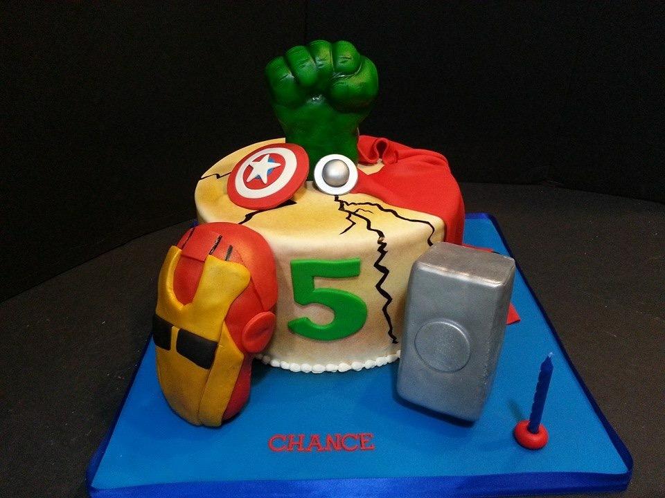 Avengers Birthday Cake - La Petite Confections.JPG
