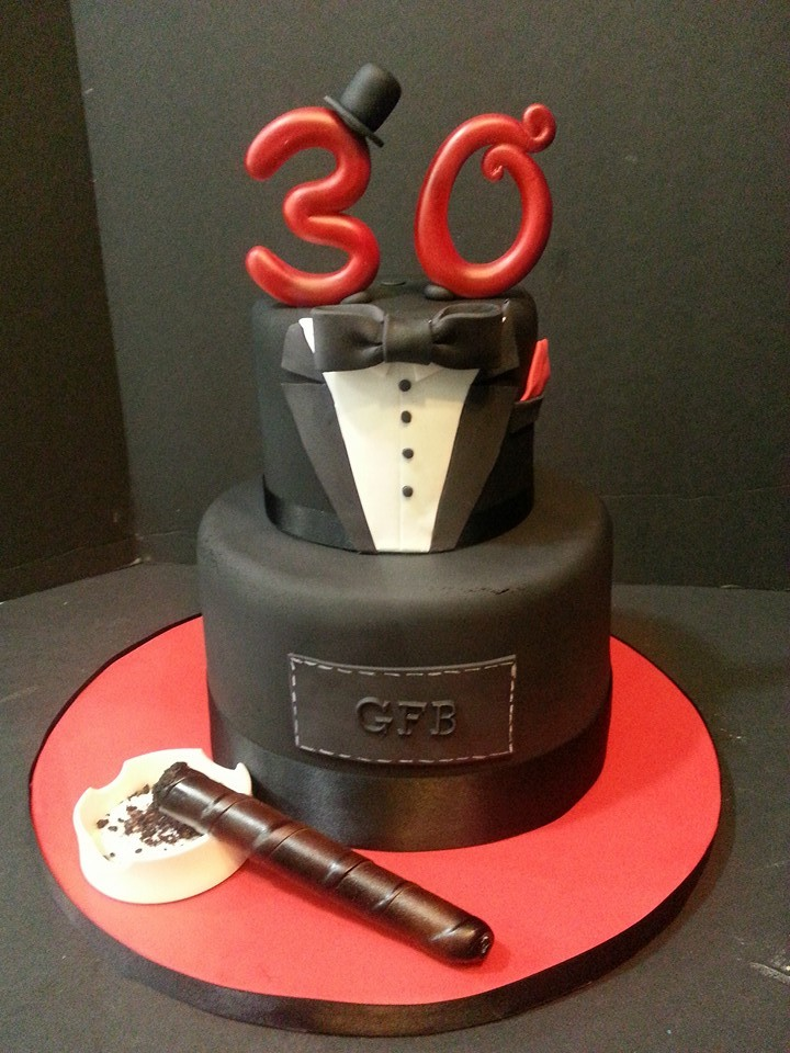 30th Birthday Cake - La Petite Confections.jpg