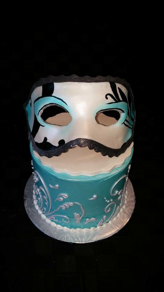 Mask with cake - La Petite Confections.JPG