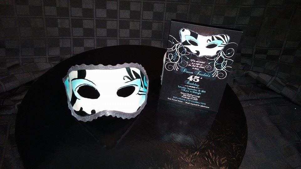 Mask with invitation - La Petite Confections.JPG