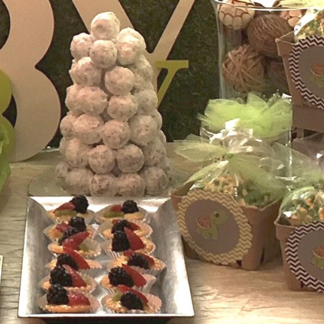 Treats on Baby Shower table - La Petite Confections.JPG