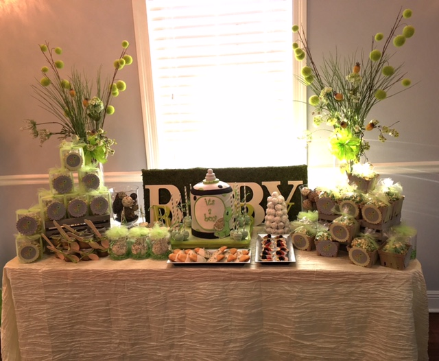 Baby Shower Treats Table - La Petite Confections.JPG