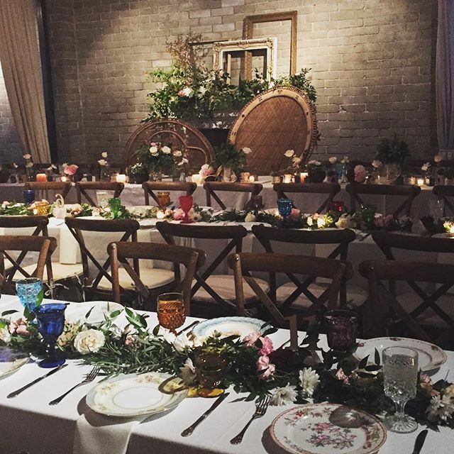 @withinsodo was a full on #bohemian paradise last night for our wonderful K+E. Every good marriage starts in a set of #peacockchairs ! So much love for these two and so many fun details! Special thanks to a killer vendor team who brought it all to life!  #juliamillerfloral #pjhummel @grandeventrentals @vintageambiance  #seattlewedding #seattleweddingplanner #weddingplanner #eventdesign #bohemian #bohochic #bohowedding #vintagechina #eclectic #vineyardchairs #familystyle #tablescape #seattlebride #huffpostido #ido #weddingseason #bride #groom #hipster