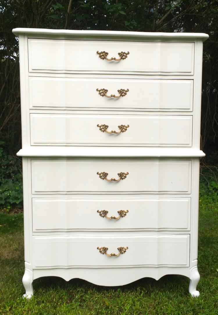 White Antique Dresser white antique dresser — mlryan designs
