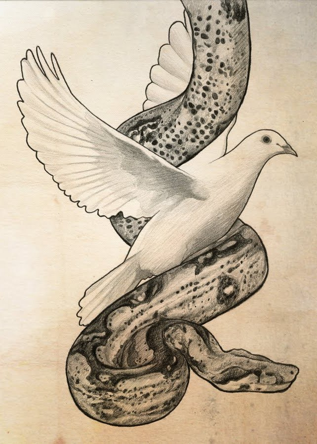 "Don't you remember: ""be innocent as doves and crafty as serpents"" (Matt 10.16; φρονίμως ""crafty"": same word in both texts)"