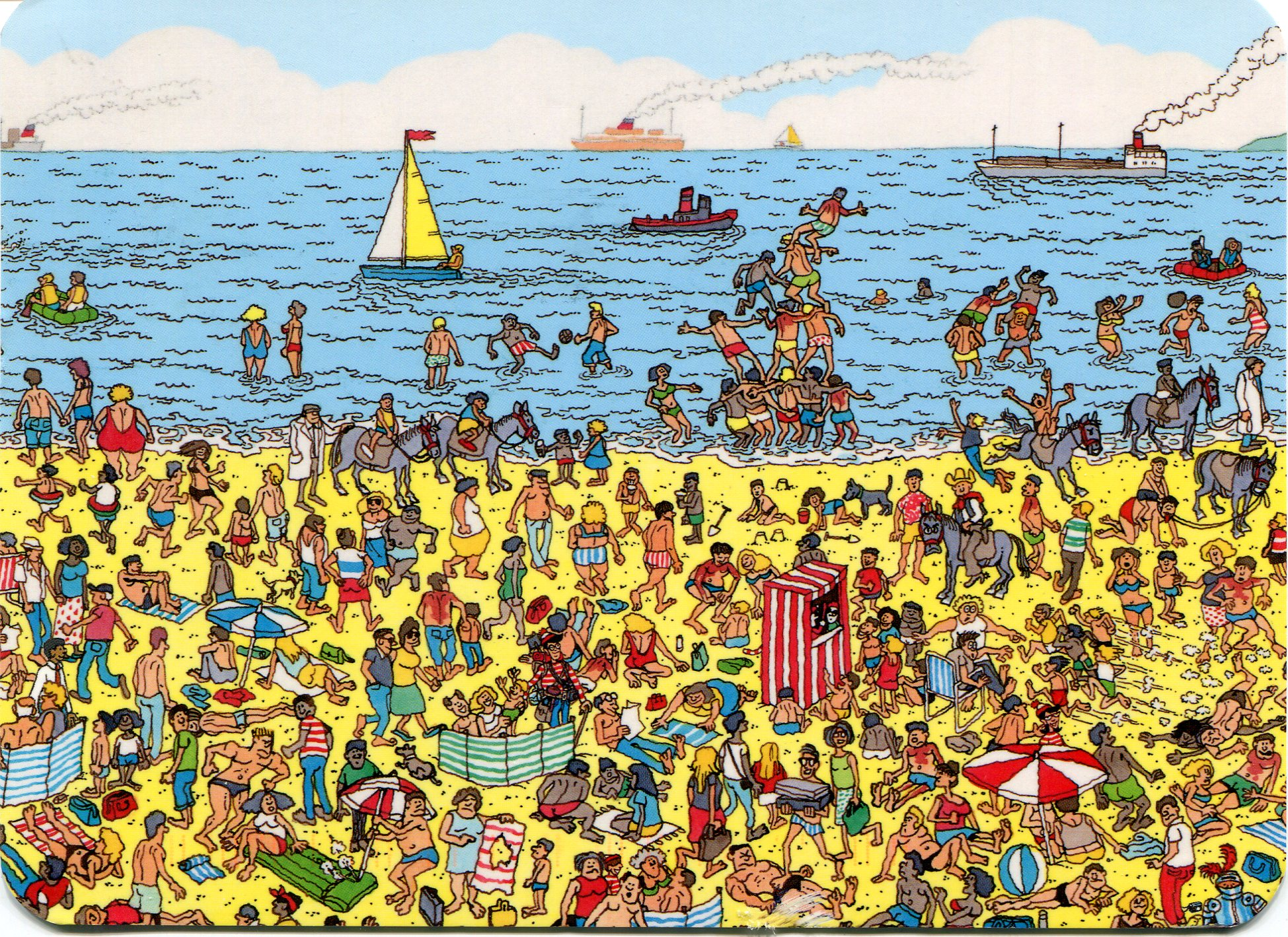 For those who remember, go ahead and try to find Waldo...
