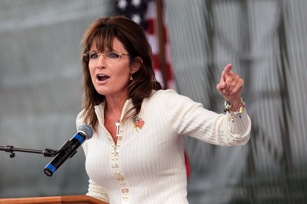 """Sarah Palin Attends Tea Party """"Restoring America"""" Rally In Iowa"""