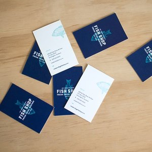 Instagram ann ye business cards for mt eden village fish shop designed with brave media reheart Gallery
