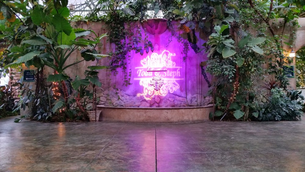 Waterfall graphics and color wash at La Caille