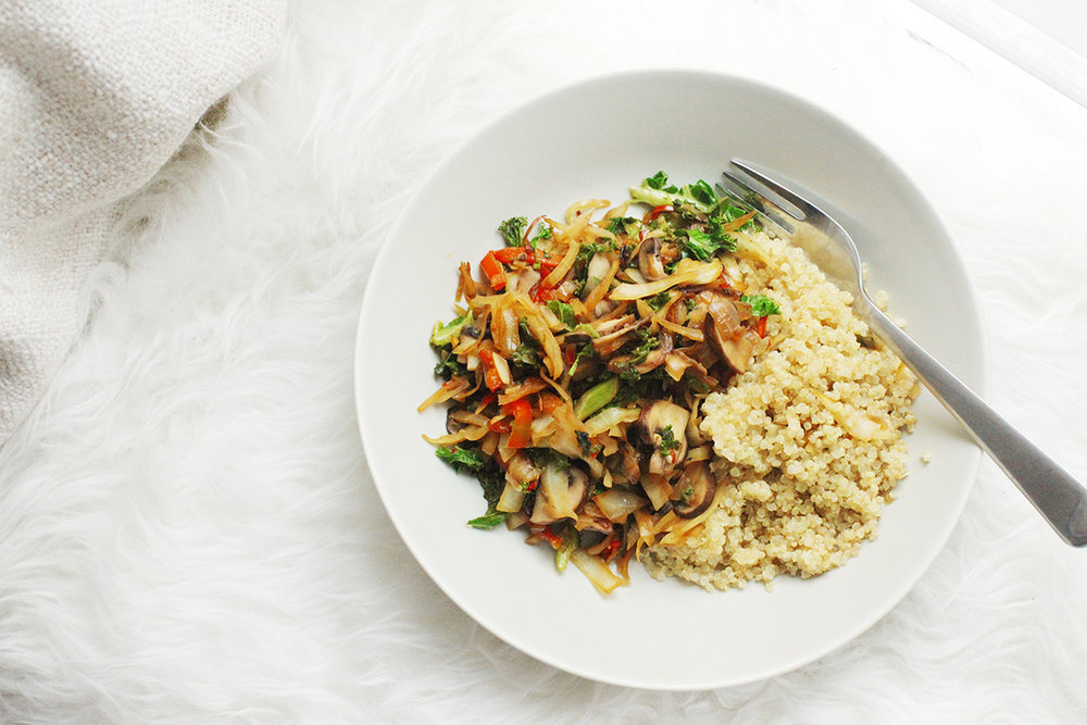 chinese stirfry with quinoa simple meals