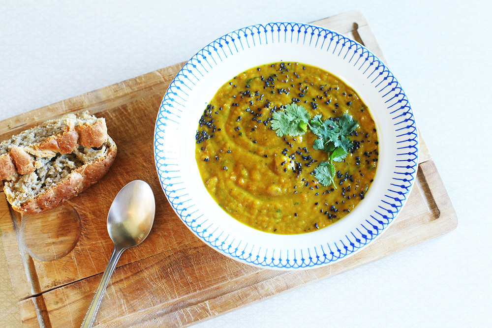 Carrot coriander potato coup