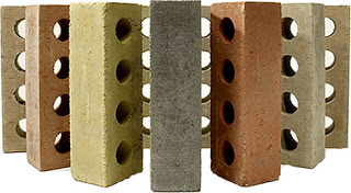 Prototypes of Calstar Products fly ash brick
