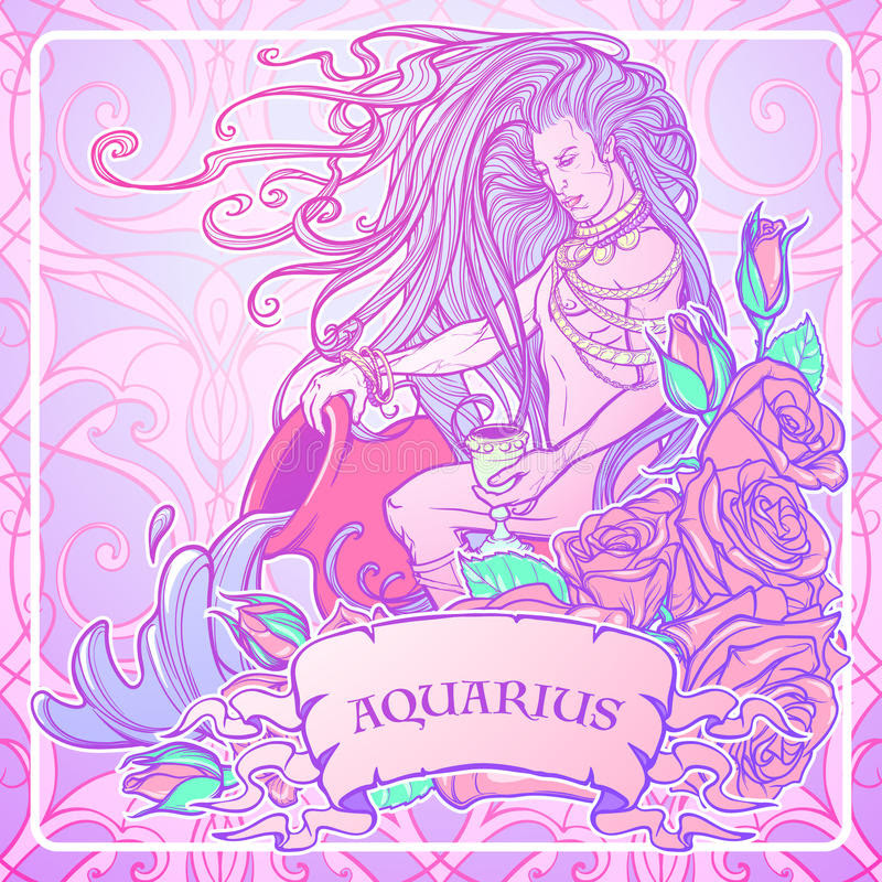 Image from:  https://www.dreamstime.com/stock-illustration-zodiac-sign-aquarius-beautiful-young-man-long-hair-holding-large-amphora-pastel-goth-palette-frame-roses-water-flowing-out-image85190855