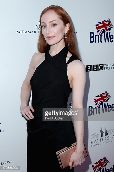 Lotte Verbeek at the red carpet of Brit Week wearing a Michail Sykianakis dress