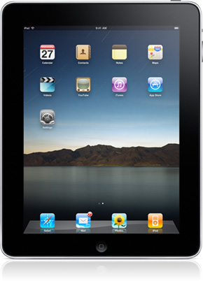Home Screen of the Apple iPad