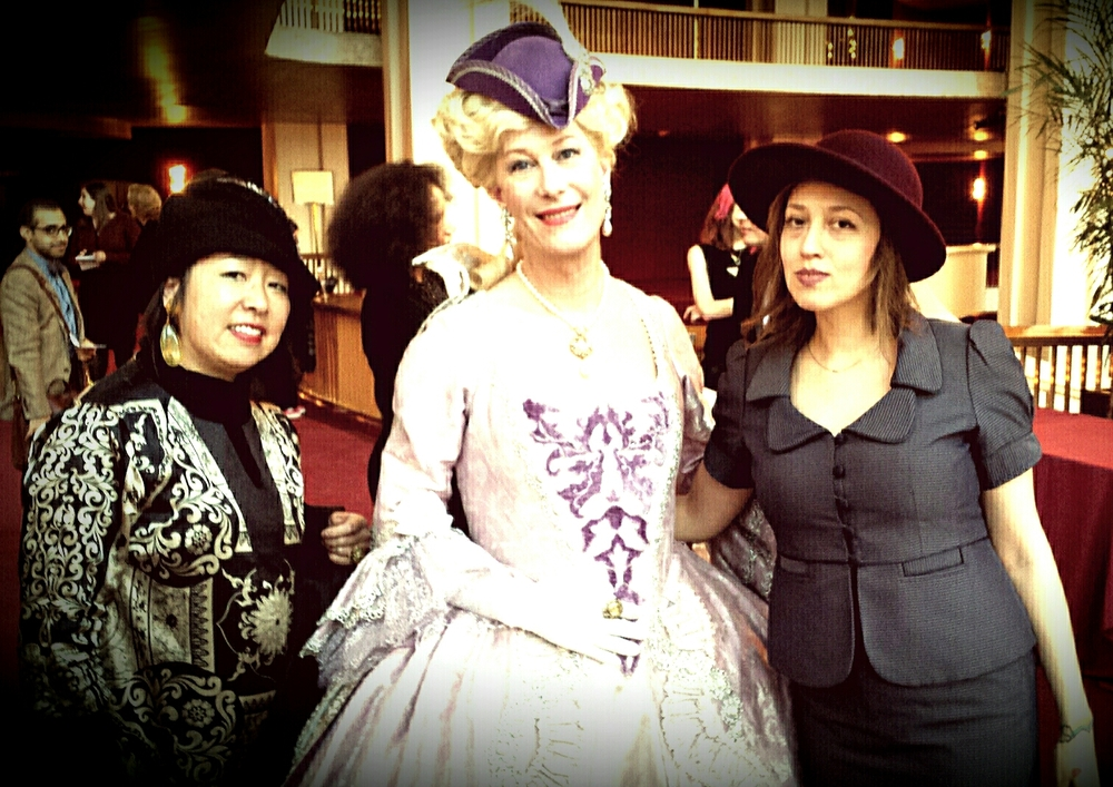 Yuka, milliner; Justin Vivian Bond, performer; Me, Stephanie Susberich