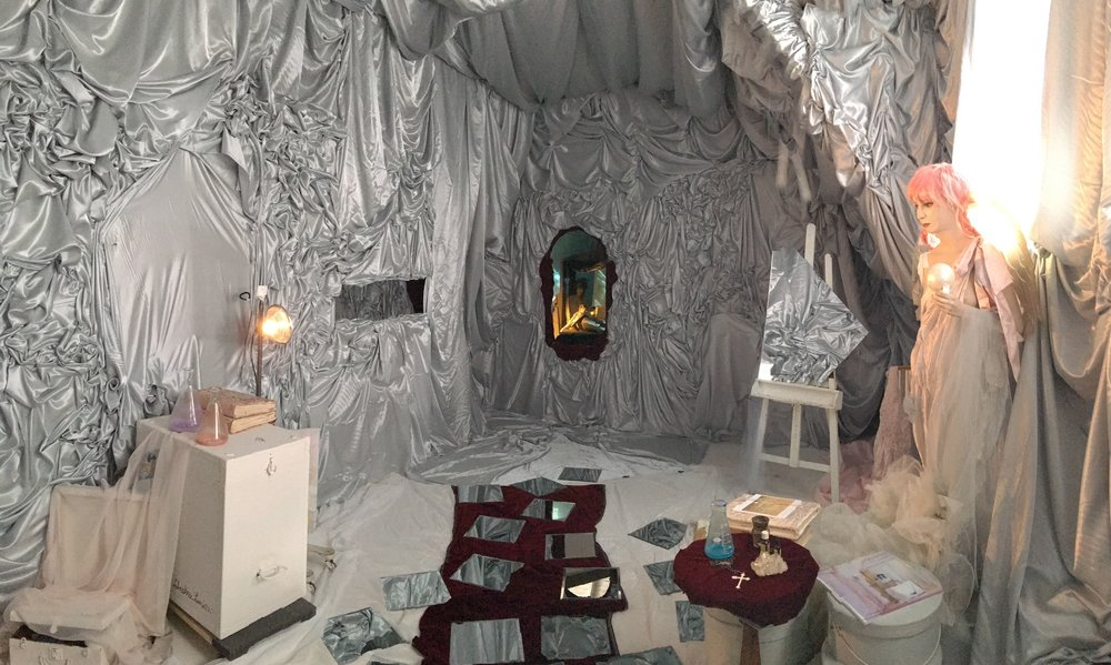 """There is a Mermaid in the Attic"" Installation View. #40 Exhibition PS1MOMA. June/Nov 2016. colette the artist."