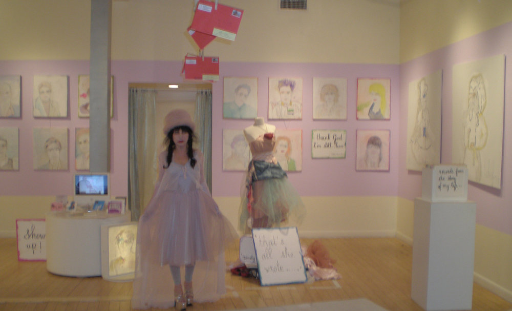 """THAT'S ALL SHE WROTE."" Installation with Metaphysical Portraits. 2010. Destination: NYC. colette the artist."