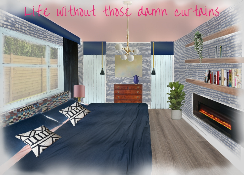 Should I go for it with a pink ceiling? I still haven't made up my mind but Mr know's it's part of the plan.