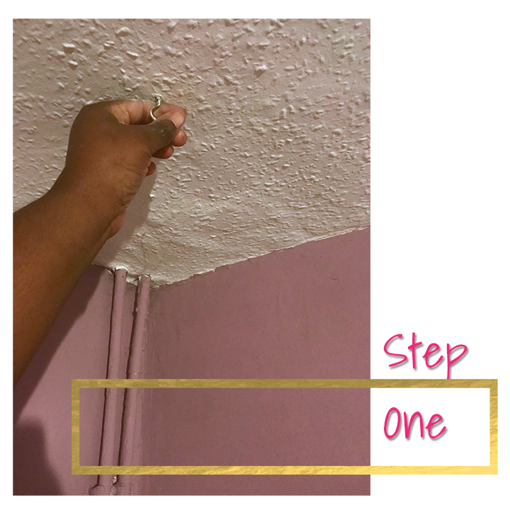 Remove hooks and other things attached to the ceiling.