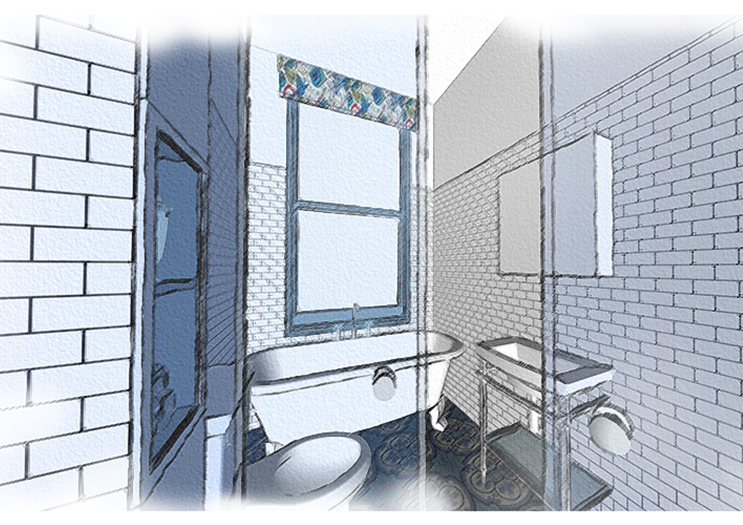 Aruba Bathroom - Concept Visual