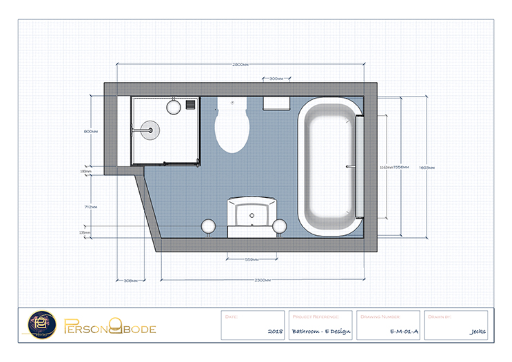 Aruba Bathroom - Dimensions Floorplan