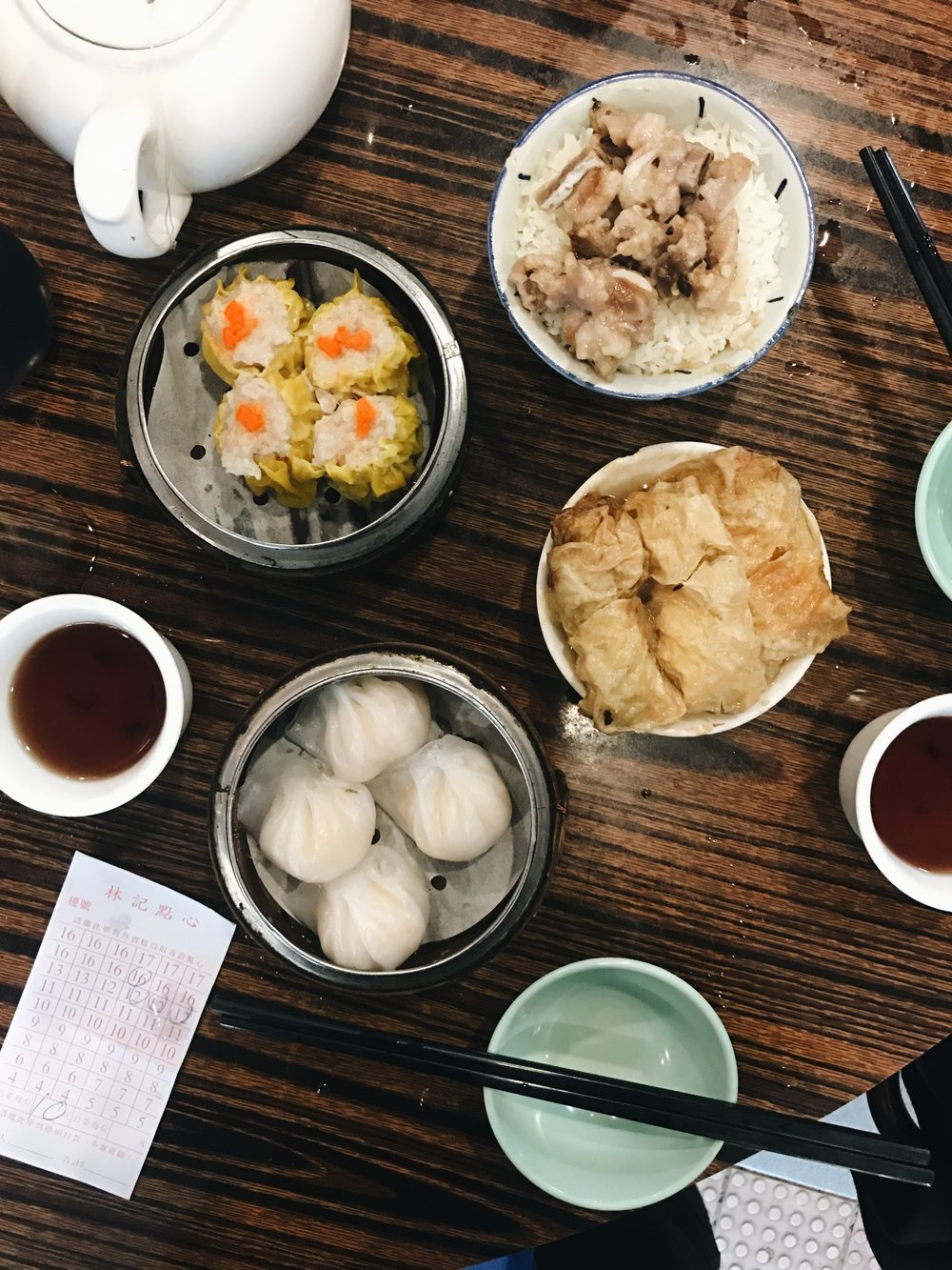 Dim sum experience: a everyday ritual of the locals. We call it the Chinese style brunch and the dishes are served in tapas!