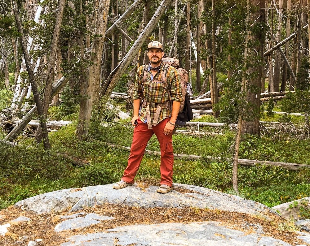 Noah Burke on the John Muir Trail in Yosemite National Park