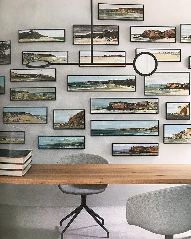 We could be rather productive in this home office! . @livingedge @cultdesignau #homeoffice #modernoffice #timbertable #study #kajaloves #kajainspired #workworkwork #oceanvibes