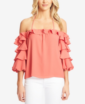 STATE Tiered Ruffled Top