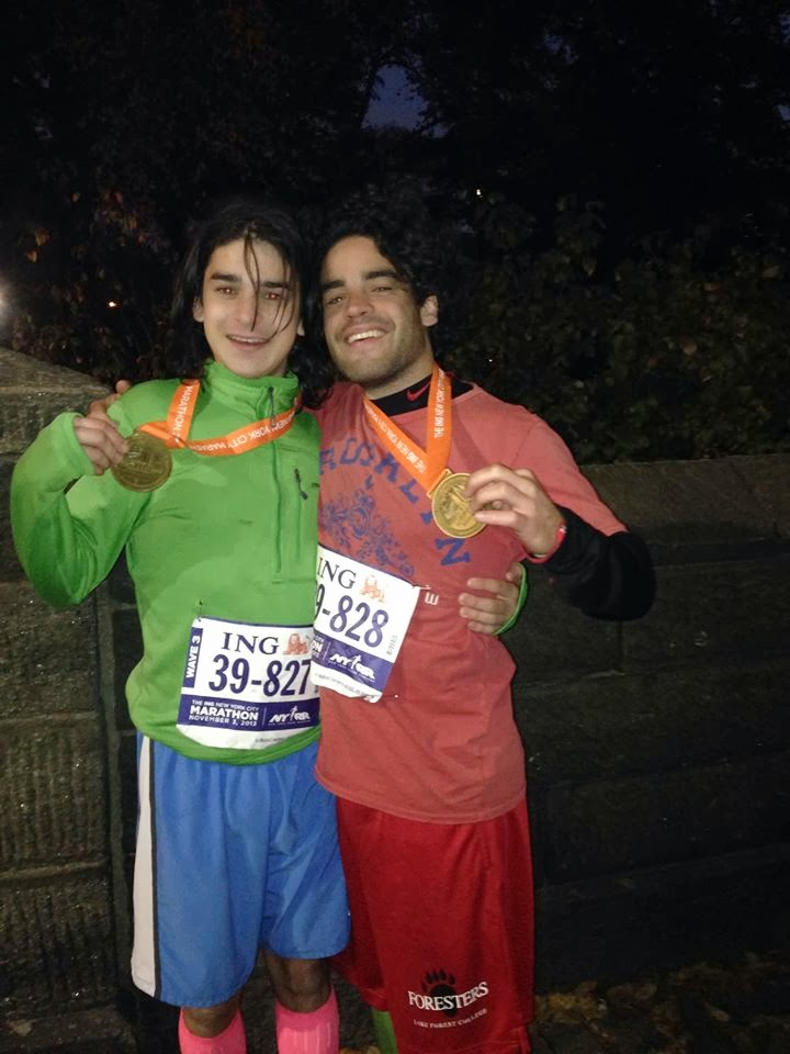 Triumph at the NYC Marathon with my brother Sean
