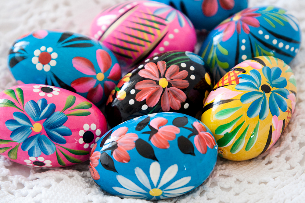 Hand painted eggs from Krakow, Poland. Photo by Rebecca Kudela