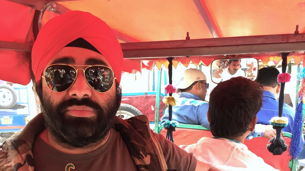 Gurpreet Singh Tikku, aka Mister Tikku, in his signature red turban.